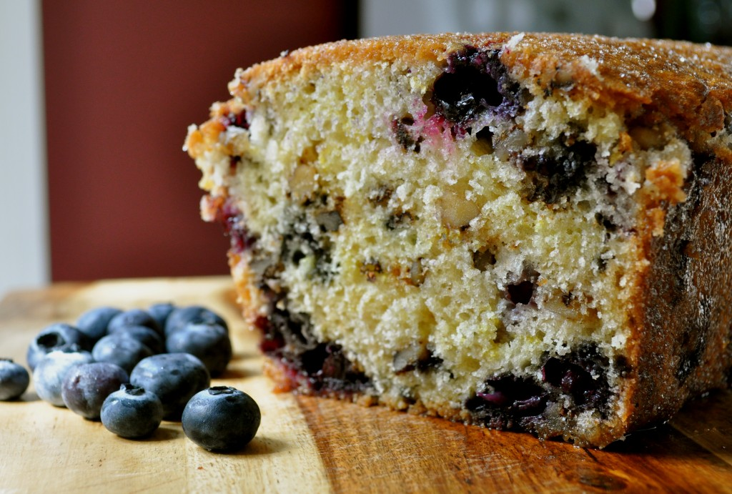 Lemon Blueberry Walnut Bread | Once Upon a Recipe