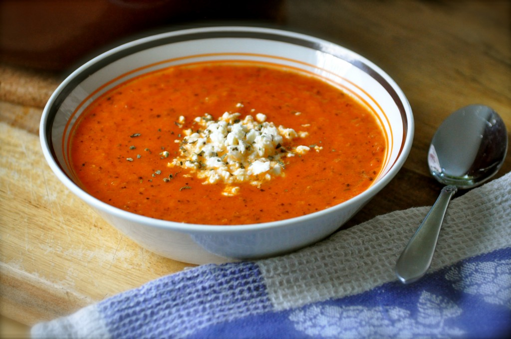 Fire-Roasted Tomato Bisque | Once Upon a Recipe