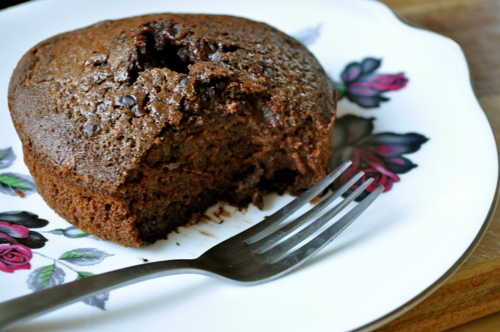 Sticky Chocolate Cake for One | Once Upon a Recipe