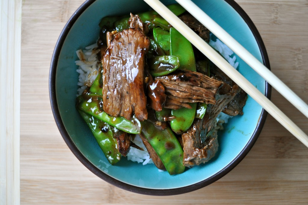 Beef with Snow Peas | Once Upon a Recipe