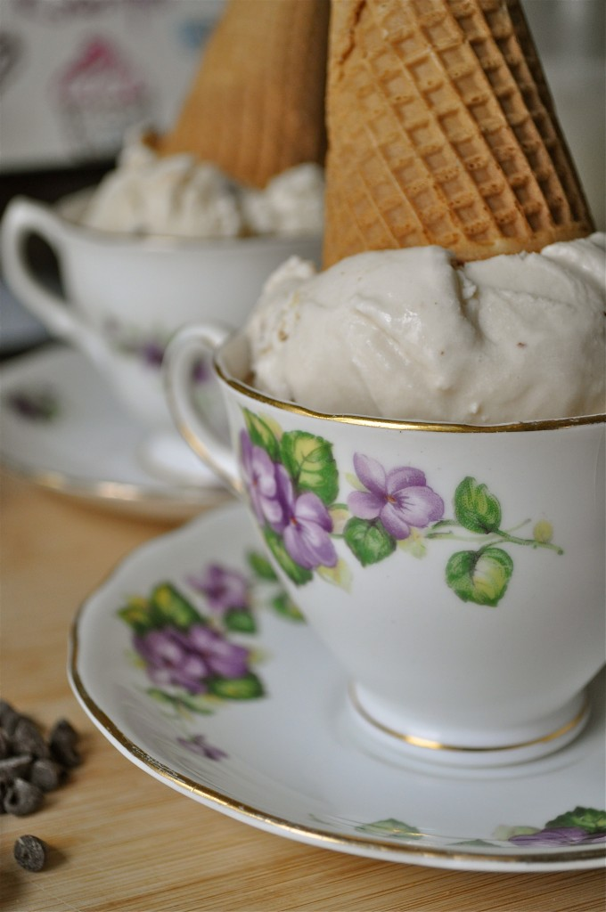 Vanilla Macadmia Nut Coffee Coconut Ice Cream | Once Upon a Recipe
