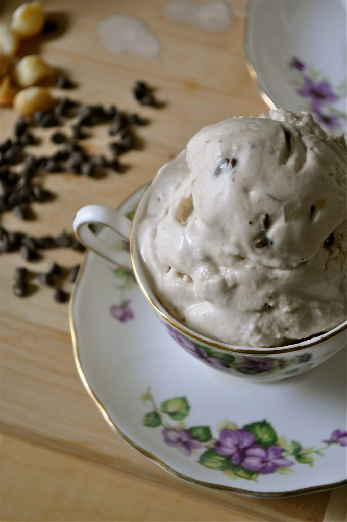 Vanilla Macadamia Nut Coffee Coconut Ice Cream | Once Upon a Recipe