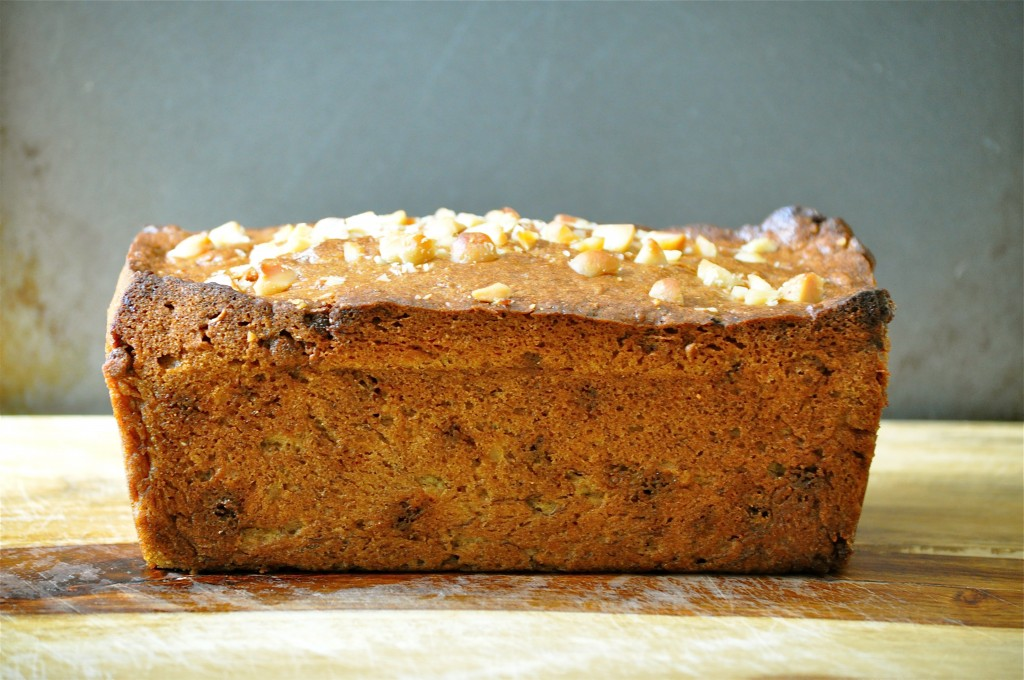 Browned Butter Banana Bread with Macadamia Nuts and Cinnamon Chips | Once Upon a Recipe