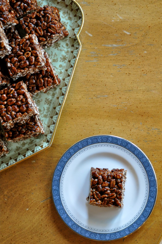 Puffed Wheat Squares | Once Upon a Recipe