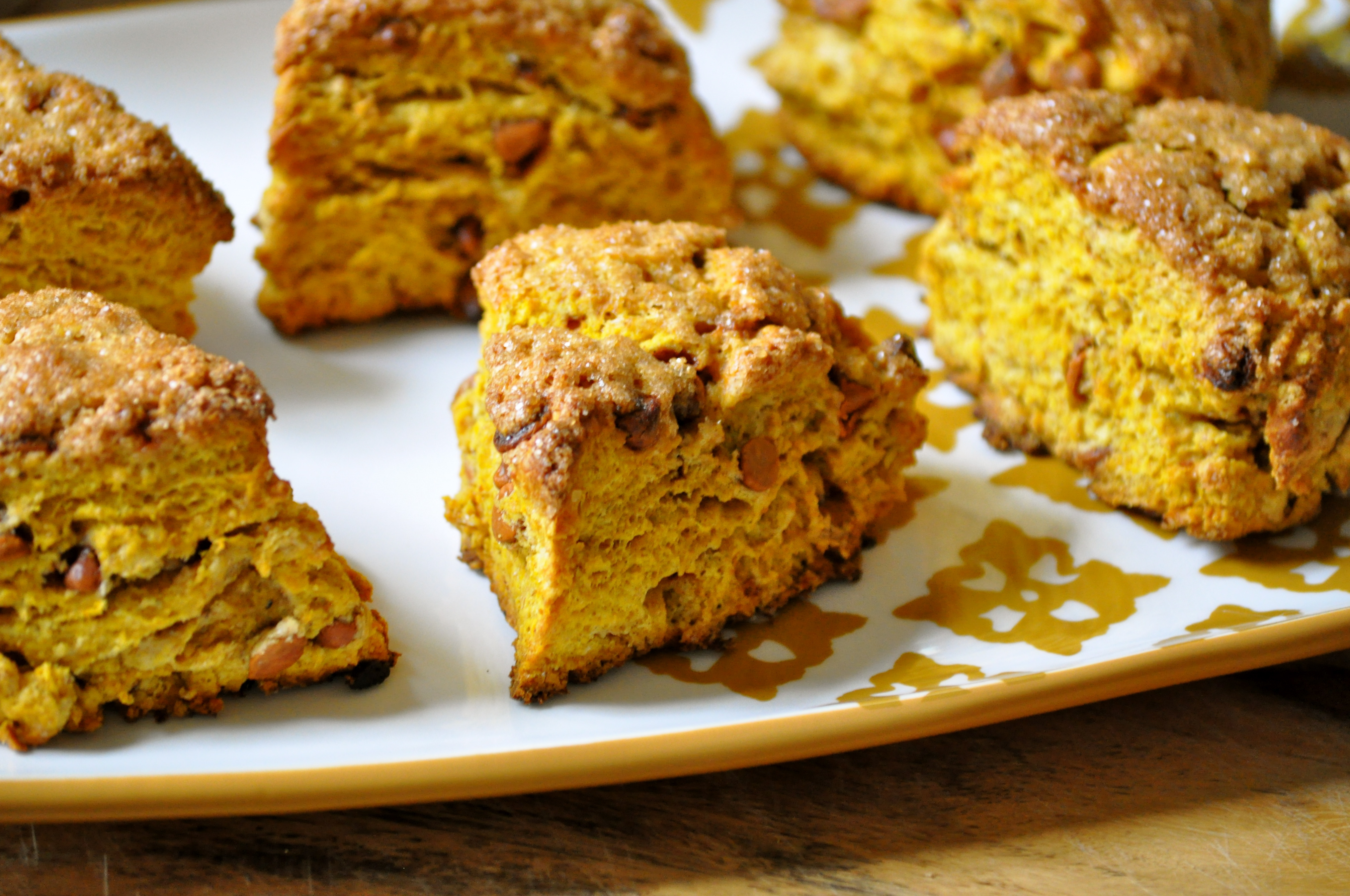 Whole Wheat Pumpkin and Cinnamon Chip Scones (adapted from King Arthur ...