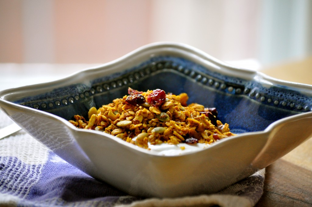 Pumpkin Maple Granola | Once Upon a Recipe