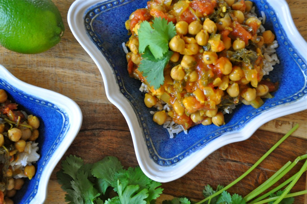 Coconut Chana Saag | Once Upon a Recipe
