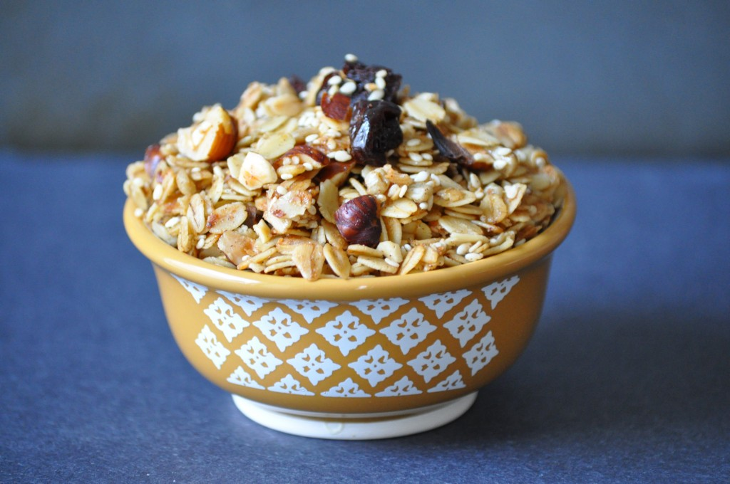 Cherry Hazelnut Granola | Once Upon a Recipe