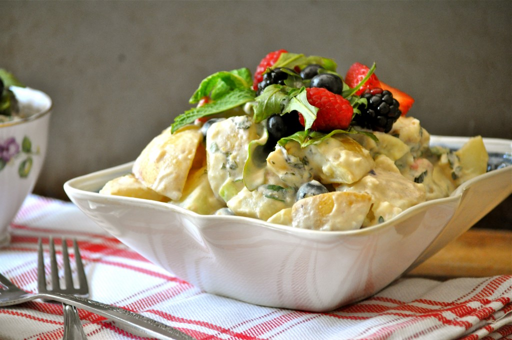 Berry Delicious Potato Salad | Once Upon a Recipe