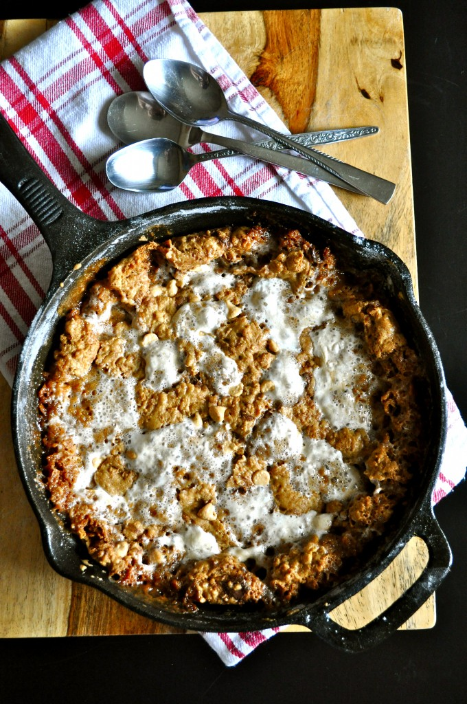Brown Butter Cornflake Marshmallow Skillet Cookie   Once Upon a Recipe