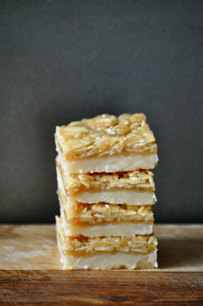 Almond Shortbread Bars | Once Upon a Recipe
