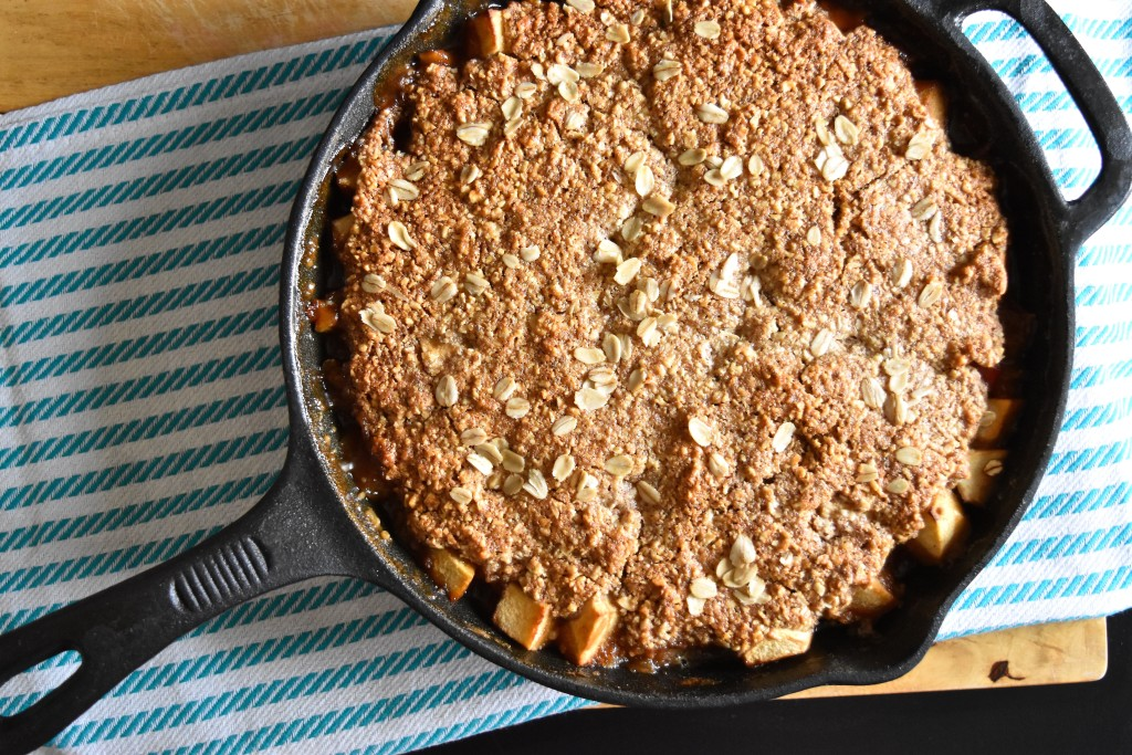 Rhubarb Apple Oat Breakfast Crisp | Once Upon a Recipe