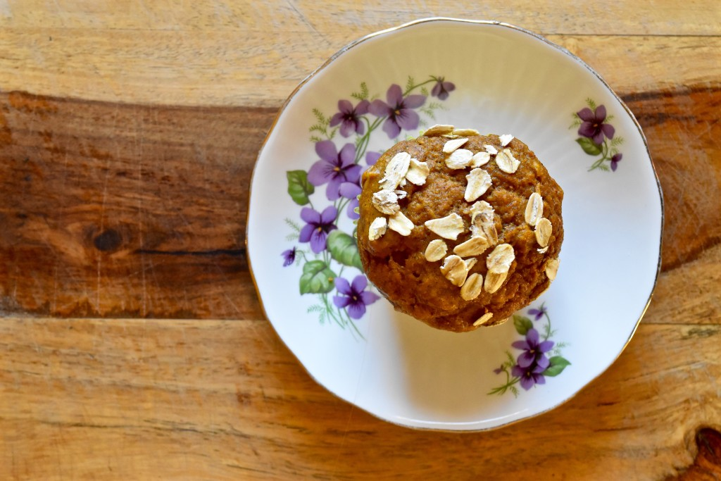 Whole Wheat Pumpkin Oat Muffins | Once Upon a Recipe